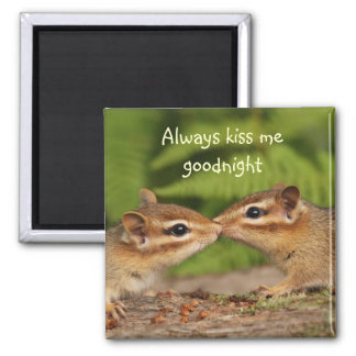Kissing Chipmunks Magnet