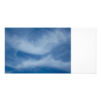 Kissing clouds photo card template