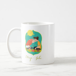"""Kissing Couple"" Cute Mug - Add Your Own Text!"