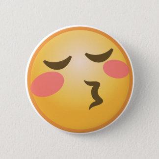 Kissing Emoji 6 Cm Round Badge