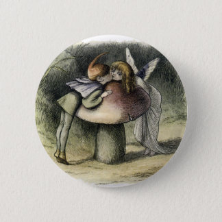 Kissing Faerie and Pixie 6 Cm Round Badge