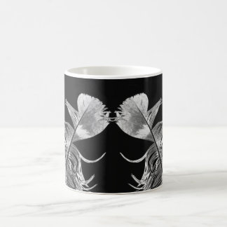 Kissing Feathers Black & White Photographic Art Coffee Mug