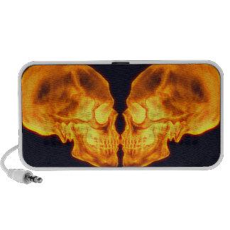 Kissing Fire Skulls Doodle Speaker