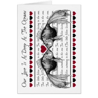 Kissing Fish Love Greeting Cards