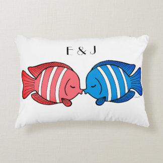 Kissing Fish Pillow Custom Wedding Gift for Couple