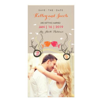 Kissing Fishes Fish Coral Sea Beach Save The Date Customised Photo Card