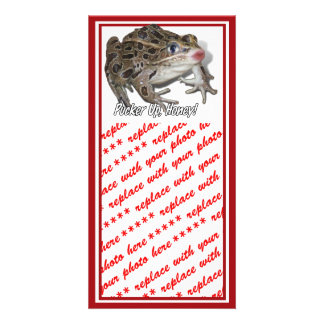 Kissing Frog - Pucker Up, Honey! Personalized Photo Card