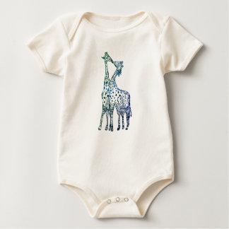 Kissing Giraffes Baby Organic Bodysuit