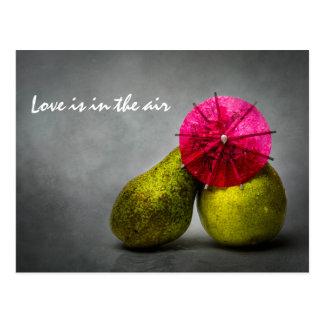 Kissing In The Rain Postcard