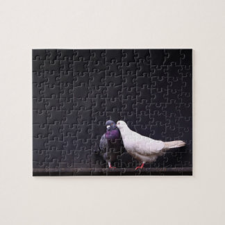 Kissing Love Birds Jigsaw Puzzle
