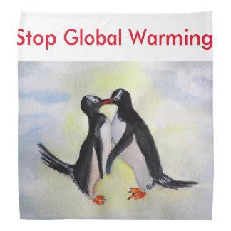 Kissing Penguins Global Warming Bandana
