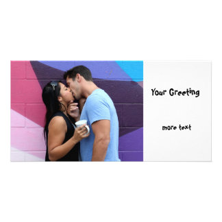 Kissing Photo Card Template