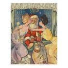 Kissing Santa Claus Vintage Christmas Postcard