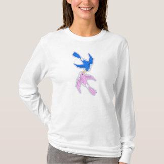 Kissing Swallows Women Long Sleeve T-Shirt