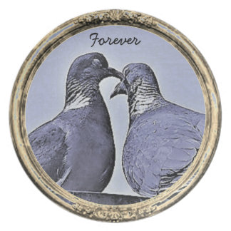 Kissing Turtle Doves Collectors Plate