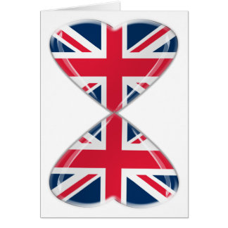 Kissing UK Hearts Flags Note Card