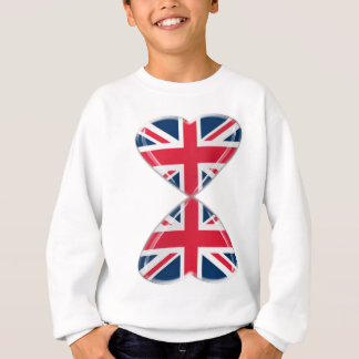 Kissing UK Hearts Flags Sweatshirt