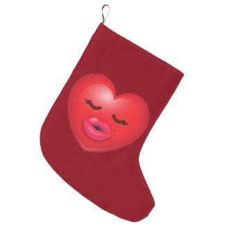 Kissy Emoji Large Christmas Stocking