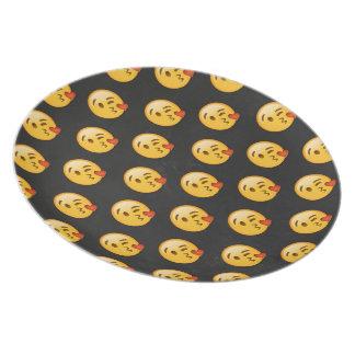 Kissy Face Love Emoji Plate