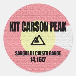 Kit Carson Peak Classic Round Sticker