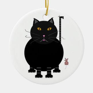 Kit Kat and Mouse Ceramic Ornament