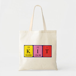 Kit periodic table name tote bag