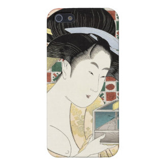 Kitagawa Utamaro Insect Cage japanese beauty lady iPhone 5/5S Case