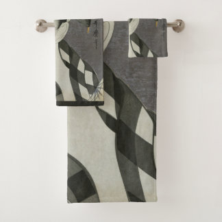 Kitagawa Utamaro's Japanese art towel set