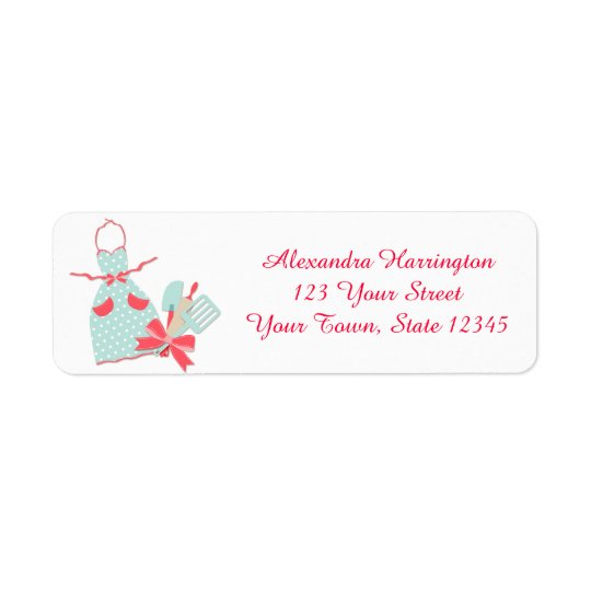 Kitchen Apron and Utensils Return Address Label