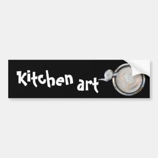 kitchen art bumper sticker