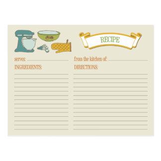 Kitchen Bridal Shower Recipe Card