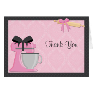 Kitchen Bridal Shower Thank You Note Card