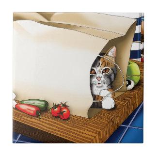 Kitchen Cat Ceramic Tile