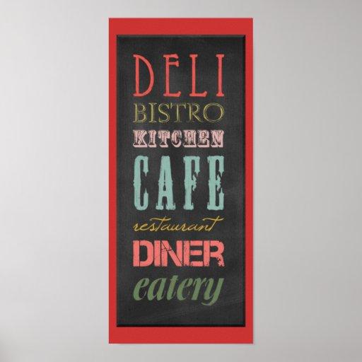 kitchen-chalkboard KITCHEN RESTAURANT DELI CAFE BI Print