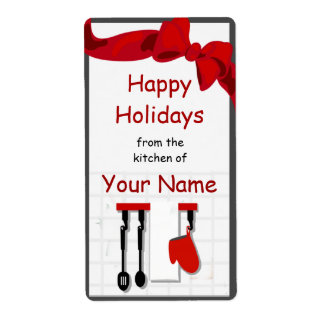 Kitchen Chef Utensils Gift Label Shipping Label