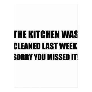 Kitchen Cleaned Last Week Postcard