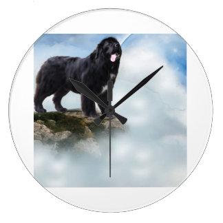 Kitchen clock Newfoundland dog lover