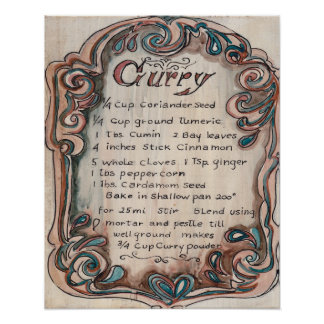 Kitchen Collection -Curry Recipe Poster