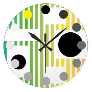 kitchen colour clock fun lines