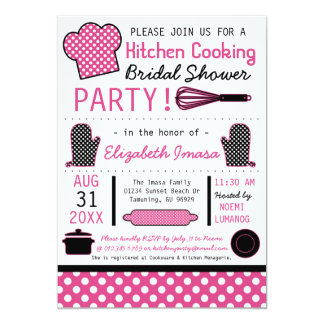 Kitchen Cooking Bridal Shower Party Personalized Invite