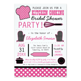 Kitchen Cooking Bridal Shower Party Invitations
