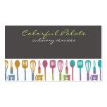 kitchen cooking utensils chef culinary biz cards