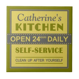 Kitchen – custom name – ceramic tiles