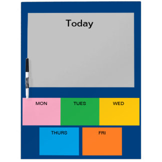 Kitchen Days of the Week Colors Note Board 13 Dry-Erase Whiteboards