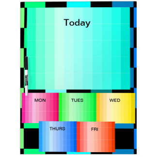 Kitchen Days of the Week Colors Note Board 14 Dry Erase Whiteboards