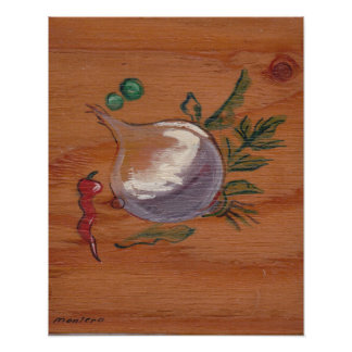 Kitchen Decor Collection - Onion & Pepper Poster