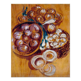 Kitchen Decor Collection - Onions Poster