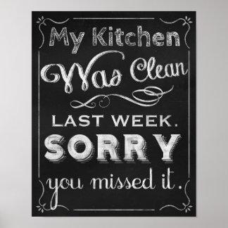 Kitchen decor prints, Chalkboard art chalk board Poster
