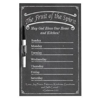 Kitchen Dry Erase Board Fruit of the Spirit #2