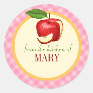 Kitchen Food Label Personalized Classic Round Sticker